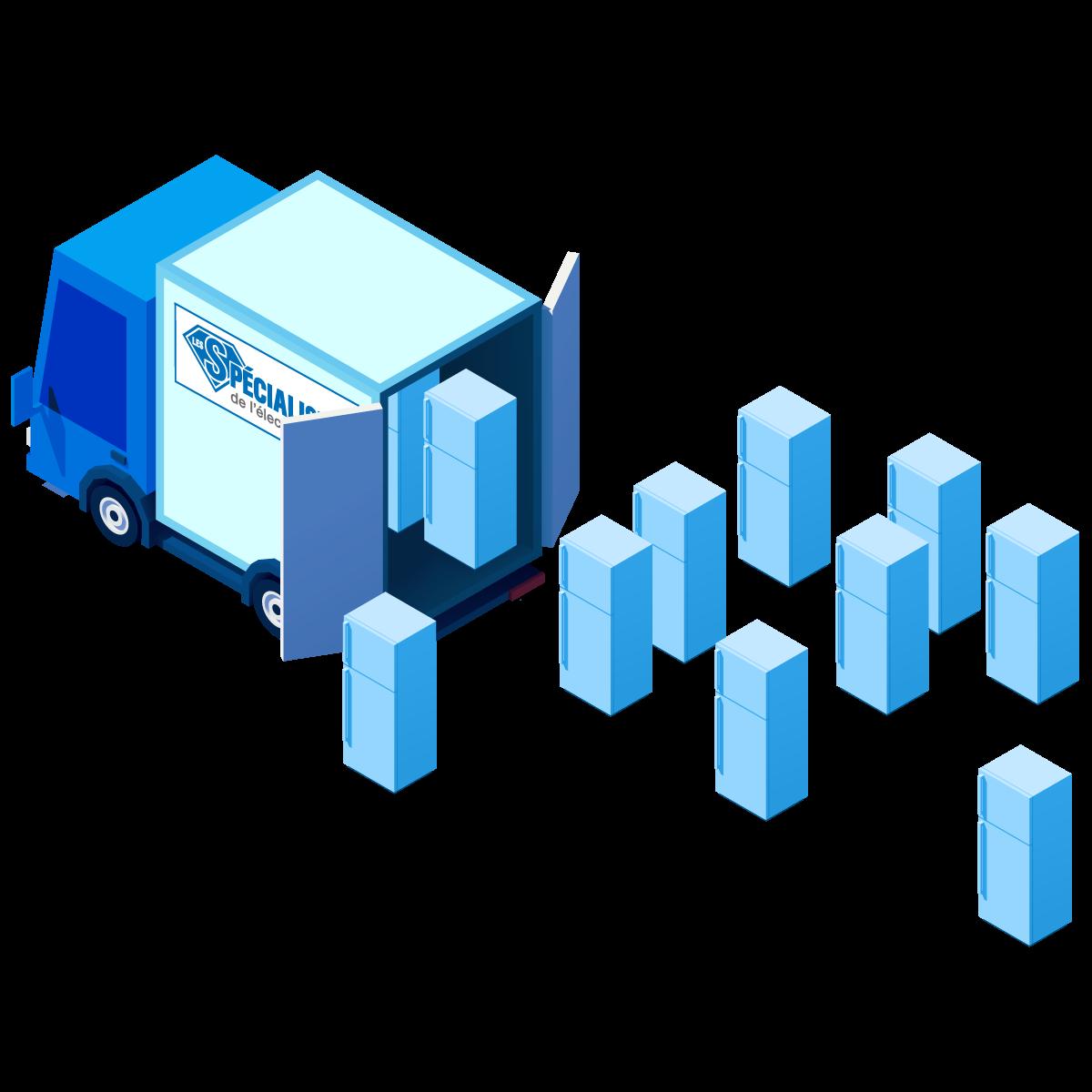 Illustration camion de transport