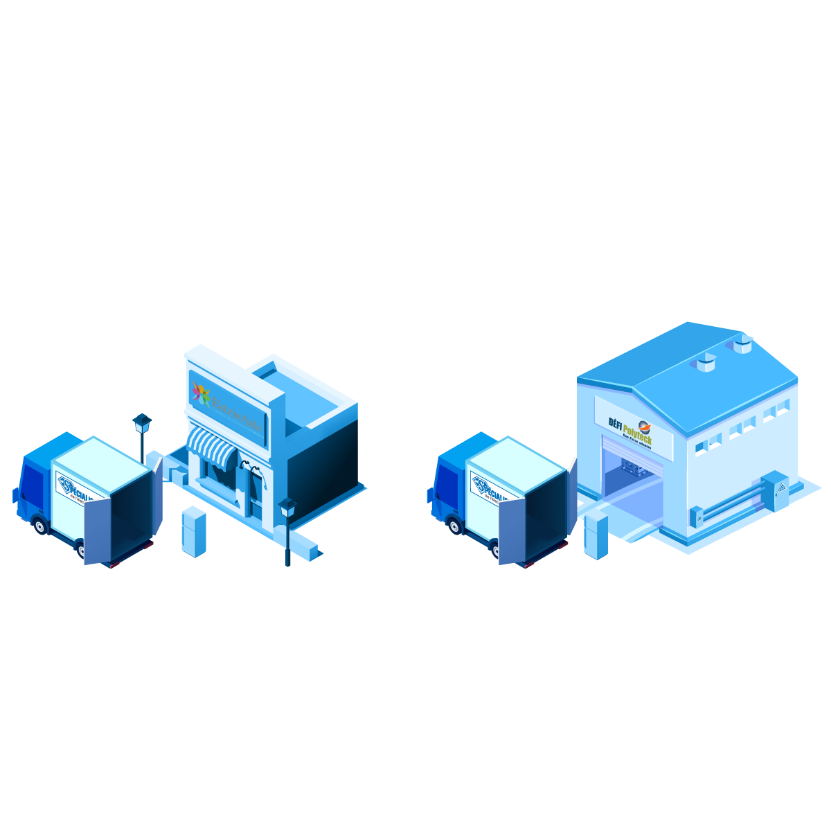 Illustration recyclage et revalorisation