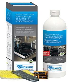Coffret de nettoyage pour surfaces | en vitrocéramique