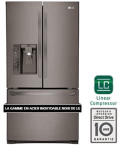 Réfrigérateur | LG INOX NOIR 24 pi3