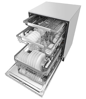 lave vaisselle lg 3 paniers 44 db les sp cialistes de l 39 lectrom nager. Black Bedroom Furniture Sets. Home Design Ideas